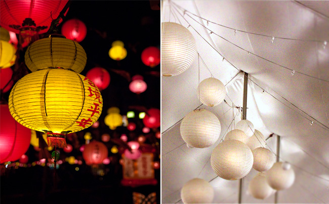 One of our favorite wedding decorations are lanterns