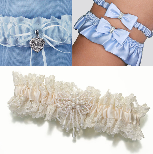 Many brides like to put their own spin on the garter tradition